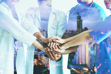 Double exposure group of medical team