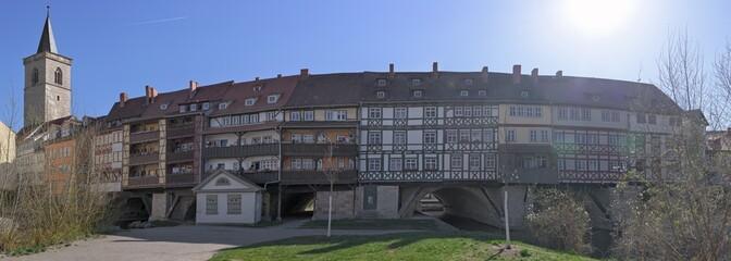 Erfurt Krämerbrücke - Panorama