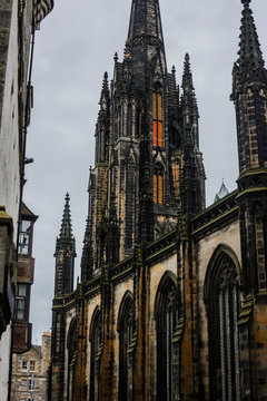 Edinburgh Hub - Highland Tolbooth St John's Church at Royal Mile - example of Gothic Revival and Decorated Gothic architectural style.