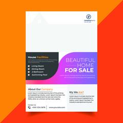 professional real estate flyer design template