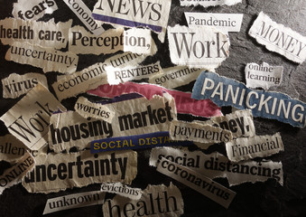 Corona Virus and economic related news headlines