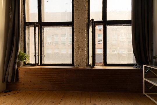 big window in loft