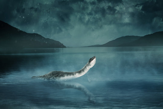 Monster of Loch Ness 3d-illustration