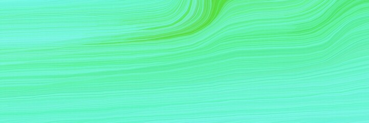 Wall Murals Green coral elegant landscape banner with waves. modern curvy waves background design with aqua marine, pastel green and moderate green color
