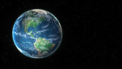 Wall Murals Nasa 3D visualization of planet earth from outer space with copy space to use your own titles or text. (3D rendering)