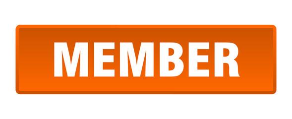 member button. member square orange push button