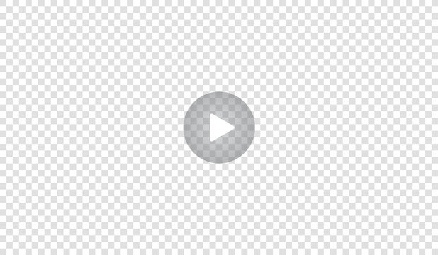 Play video sign or button vector. Transparent Play button isolated on transparent background. Vector.