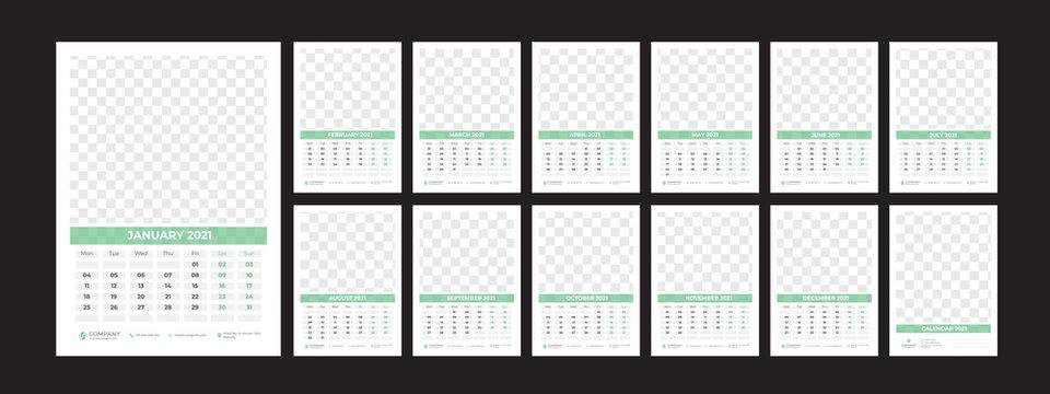 2021 Wall Calendar Template