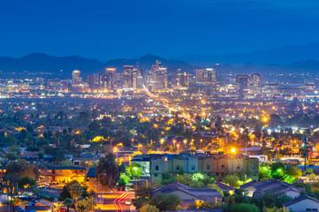Fototapete - Phoenix, Arizona, USA Cityscape