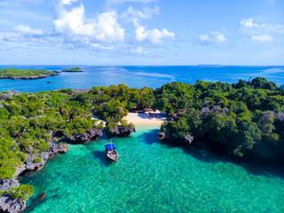 Foto auf Gartenposter Sansibar Paysage naturel d'une petite île de l'Archipel de Zanzibar