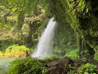 熊本の小さな滝の写真