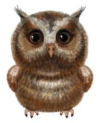 Wall Murals Owls cartoon Vector cute owl cartoon isolated.