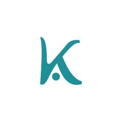 Obraz Initial Letter ak logo or ka logo vector design templates - fototapety do salonu