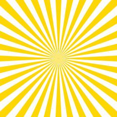 Sunburst pattern vector background. Vector isolated illustration. Sunburst vintage style. Yellow vector rays.