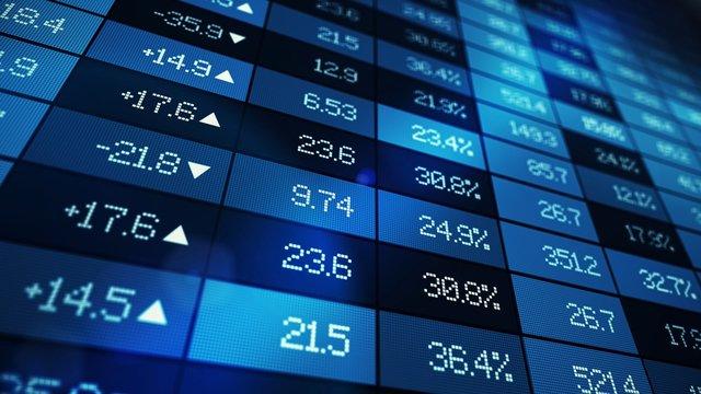 stock market exchange graph illustration