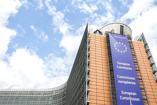Brussels, BELGIUM - July 7, 2019: European Commission Headquarters building in Brussels, Belgium, Europe