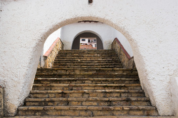 Fototapeta  Stairs of a village with ancient architecture