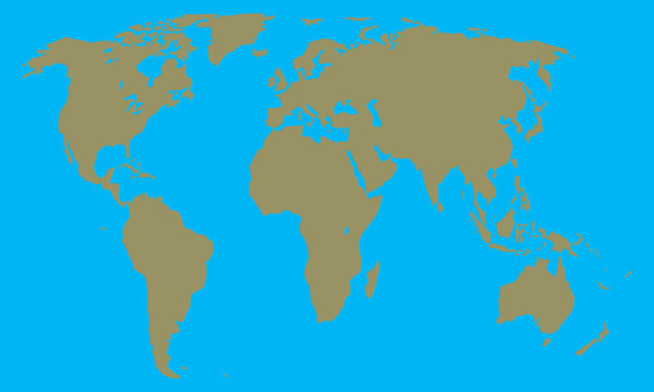 world map with continents and Islands vector illustration