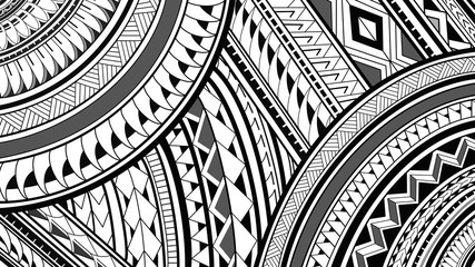 8K Maori Polynesian pattern design illustrations on a white background.