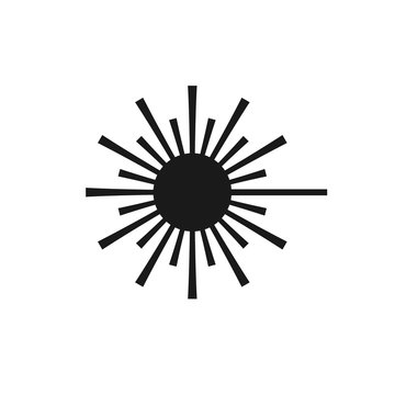 Simple isolated icon of a laser danger