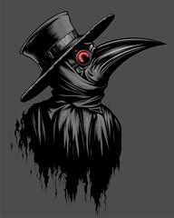 Plague doctor illustration
