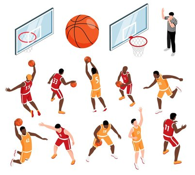 Basketball Isometric Set