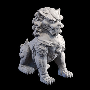Chinese guardian lion foo dog