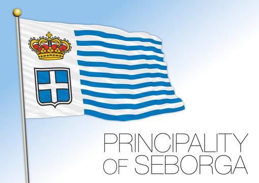 Seborga principality unofficial flag, Italy, vector illustration