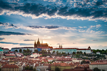 The Prague Castle complex in Czech Republic. Wall mural