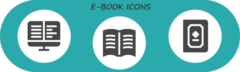 e-book icon set
