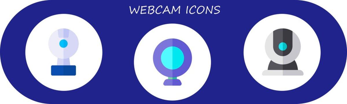 webcam icon set