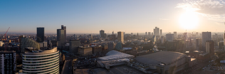 Aerial drone photo of Manchester cityscape  Fototapete