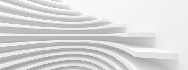 Fotobehang - Abstract Architecture Background. White Building Construction