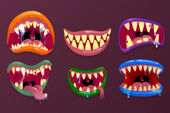 Monsters mouths.