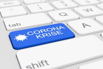 3d Illustation - Tastatur - Coronavirus - Corona Krise - Covid-19 - SARS-CoV-2
