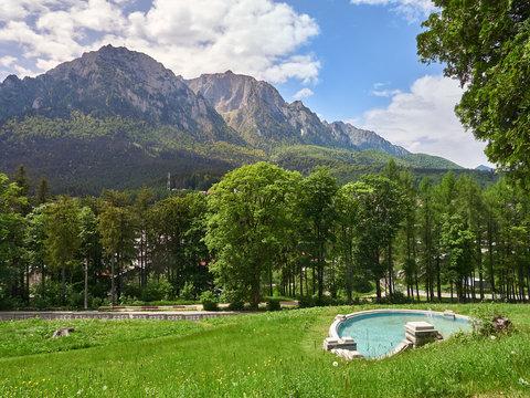 Bucegi mountains as seen from Busteni