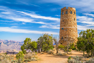 Fototapete - Grand Canyon, Arizona, USA at Desert Watchtower