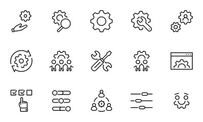 Set of Washing Hands Vector Line Icons. Contains such Icons as Coronavirus, Contactless Water Tap, Antiseptic, Washing Instruction, Hand Dryer, Soap and more. Editable Stroke. 32x32 Pixels.
