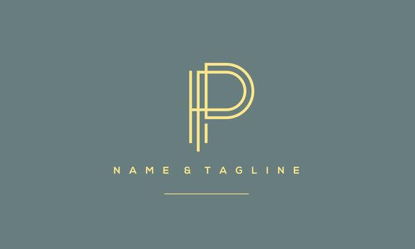 Alphabet letter icon symbol P