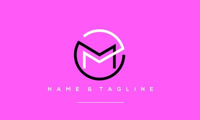 Alphabet letter icon logo  MM