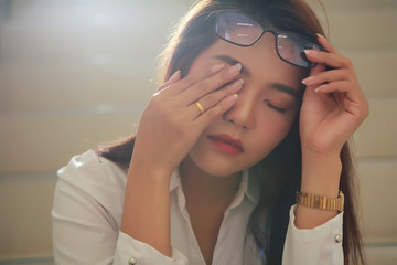 Beautiful businesswoman sad after receiving bad news about her investment.