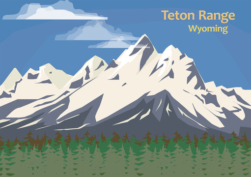 Teton Range, mountain range of the Rocky Mountains in North America
