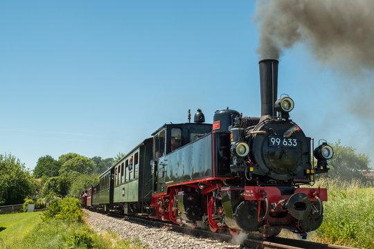 Mallet Dampflokomotive auf der Öchsle-Bahn