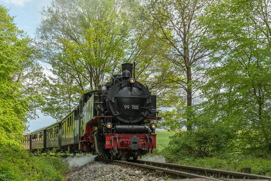 """Lok """"Berta"""" auf Schmalspurbahn Ochsenhausen"""