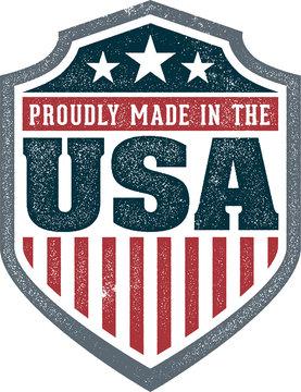 Made in USA Vintage Crest Stamp