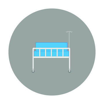 hospital bed on white background