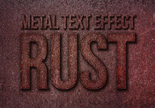 Rust Metal Text Effect Mockup