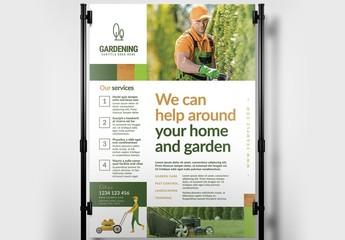 Gardening Services Banner Layout