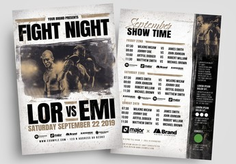 Boxing or Mma Fight Night Flyer Layout