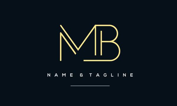 Alphabet letter icon logo MB